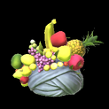 Fruit hat topper icon grey