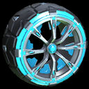 Truncheon wheel icon sky blue