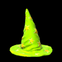 Wizard hat topper icon lime