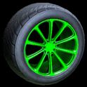 Dieci wheel icon forest green