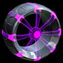 Picket Holographic wheel icon purple