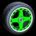 Alchemist wheel icon forest green