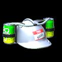 Drink helmet topper icon titanium white