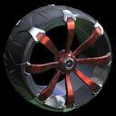 Picket wheel icon burnt sienna