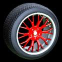 Sunburst wheel icon crimson