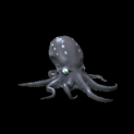 Octopus topper icon black