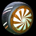 Peppermint wheel icon burnt sienna