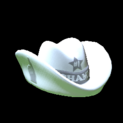 Foam hat topper icon grey