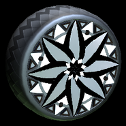 Mandala wheel icon grey