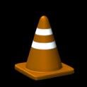 Traffic cone topper icon burnt sienna