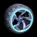 Chakram wheel icon cobalt