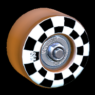 Sk8ter wheel icon burnt sienna