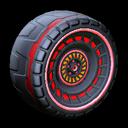 Spiralis wheel icon crimson