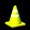 Traffic cone topper icon saffron