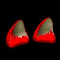 Wildcat ears topper icon crimson