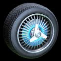 Lowrider wheel icon sky blue