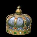 Royal crown topper icon grey