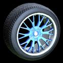 Sunburst wheel icon cobalt