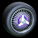 Lowrider wheel icon purple