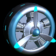 Propeller wheel icon sky blue