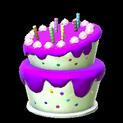 Birthday cake topper icon purple