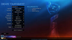 Create tournaments preview