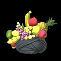 Fruit hat topper icon black
