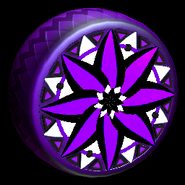 Mandala wheel icon purple