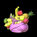 Fruit hat topper icon pink