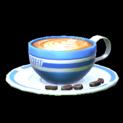 Latte topper icon cobalt