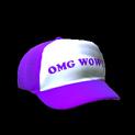 Trucker hat topper icon purple