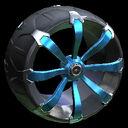 Picket wheel icon sky blue
