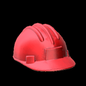 Hard hat topper icon crimson