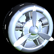 Propeller wheel icon titanium white
