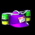 Drink helmet topper icon purple