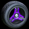 Invader wheel icon purple