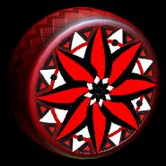 Mandala wheel icon crimson