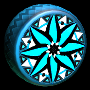 Mandala wheel icon sky blue