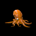 Octopus topper icon burnt sienna