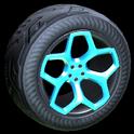 Spyder wheel icon sky blue