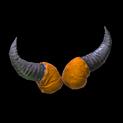 Devil horns topper icon burnt sienna
