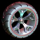 Wrench-Roller wheel icon crimson