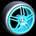 Gaiden wheel icon sky blue