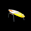 Surfboard topper icon burnt sienna