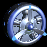 Propeller wheel icon cobalt