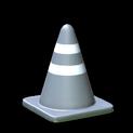 Traffic cone topper icon grey