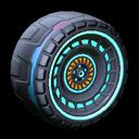 Spiralis wheel icon sky blue