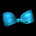 Little bow topper icon sky blue