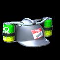 Drink helmet topper icon grey
