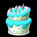 Birthday cake topper icon sky blue